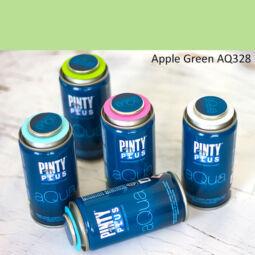 Pinty Plus Aqua, vízbázisú festékspray, 150 ml - 328 Apple Green