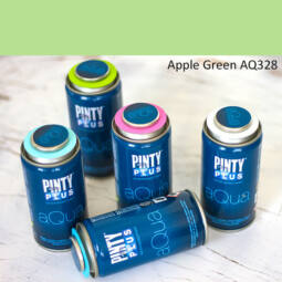 Pinty Plus Aqua, vízbázisú festékspray, 150 ml - 328 Apple Green