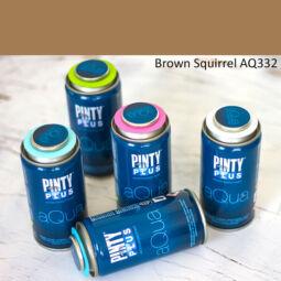 Pinty Plus Aqua, vízbázisú festékspray, 150 ml - 332 Brown Squirrel