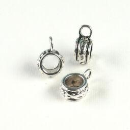Charm, fémdísz - gyöngyakasztó
