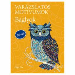 Varázslatos motívumok, színező felnőtteknek - Baglyok, Olga Grey