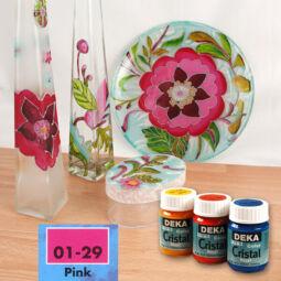 Deka Cristal üvegfesték 25 ml - pink