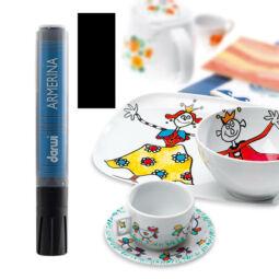 Porcelánfilc, Armerina, Darwi - fekete