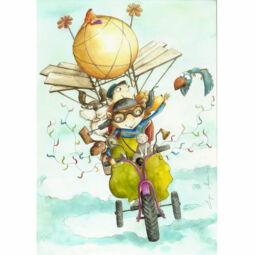 Egri Mónika kifestő, Gyerek figurák - Felhők felett