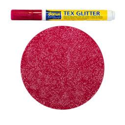 Textilfilc, Tex Glitter - sötét anyagra, kármin
