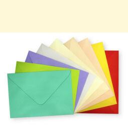 Színes boríték, C/6, enyvezett - wheatear yellow