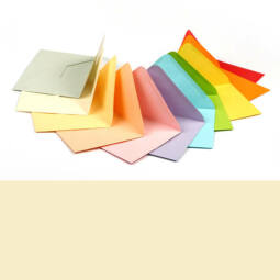 Boríték, C6, 11x16 cm - színes, creme, 80 g