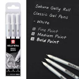 Sakura Gelly Roll zselés toll készlet, 3 db - Bright White 05/08/10