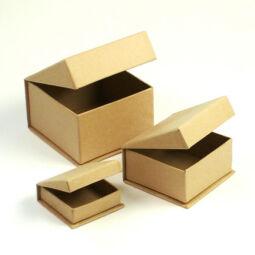 Papírmasé doboz készlet - ékszeres, 3 db-os