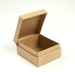 Papírmasé doboz,  ékszeres - 8x7x4 cm