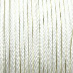 Paracord 350, méterben, 3 mm, színtetikus - fehér