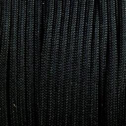 Paracord 350, méterben, 3 mm, színtetikus - fekete