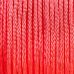 Paracord 350, méterben, 3 mm, színtetikus - élénk rózsaszín
