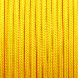 Paracord 350, méterben, 3 mm, színtetikus - sárga