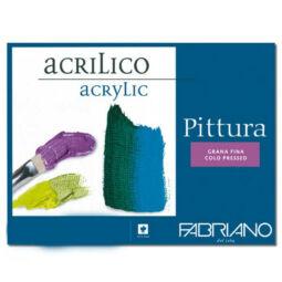 Fabriano Pittura akril festőtömb, 400 g, 10 lap, 25x35 cm
