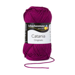 Catania pamut fonal, 50 g - 128 fukszia