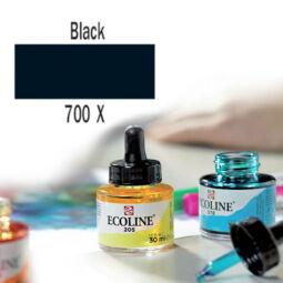 Talens Ecoline folyékony akvarell festék, 30 ml - 700, black