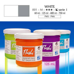 Flashe akrilfesték, 125 ml - 010, white