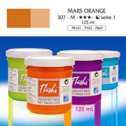 Flashe akrilfesték, 125 ml - 307, mars orange