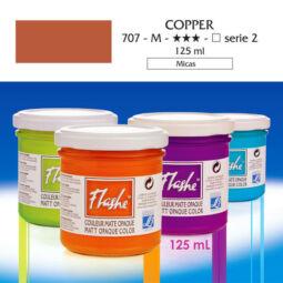 Flashe akrilfesték, 125 ml - 707, copper