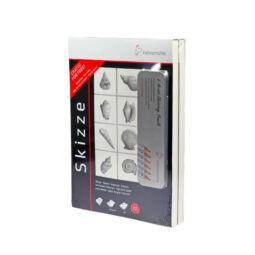 Hahnemühle Skizze skicctömb, 2 db, 96 g, 100 lap, A4 + 6 db-os ceruzakészlet