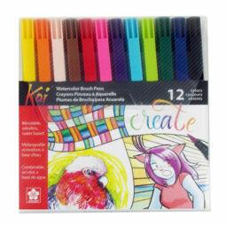 Sakura Koi Brush Pen ecsetfilc készlet - 12 db