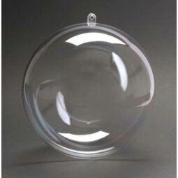 Kétrészes műanyag gömb - 8 cm