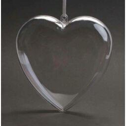Kétrészes műanyag szív - 10 cm
