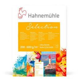 Hahnemühle Watercolour Selection akvarellpapír válogatás tömb, 12 lap, 24x32 cm