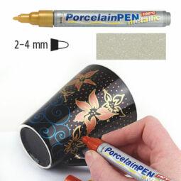 Porcelánfilc, HobbyLine Metallic - ezüst