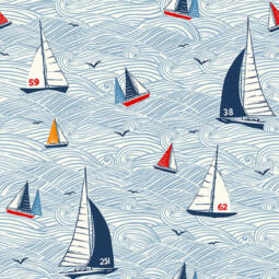 Patchwork anyag - Makower - Sail Away 2208-1 Seascape