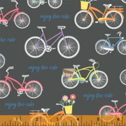 Patchwork anyag - Windham Fabrics - Enjoy the Ride by Whistler Studios 51994-1 charcoal