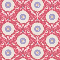 Patchwork anyag - Tilda - Bon Voyage 100251 Ringflower red