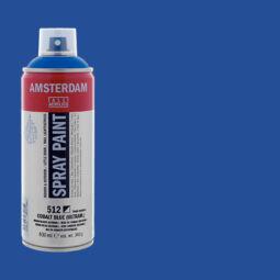 Talens Amsterdam vízbázisú akrilfesték spray, 400 ml - 512 cobalt blue