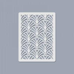 Texturáló 3D stencil, 7,5x10 cm - 008