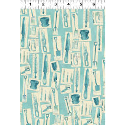 AKCIÓ! Patchwork anyag - Clothworks - Vintage Seedpackets Y1661-97