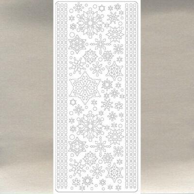 Kontúrmatrica - hókristály, ezüst, 0232