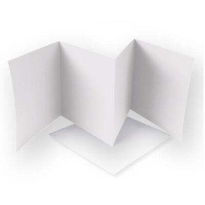 Leporello kártya - pasztell bézs, 13,5x13,5 cm, 4 lapos
