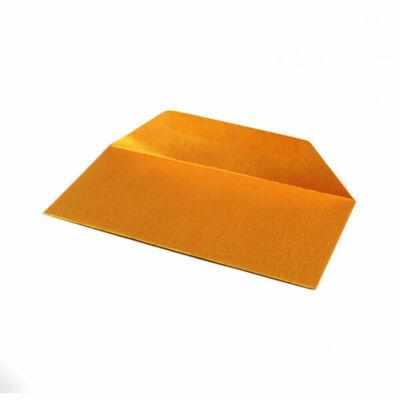 Boríték, francia, 11x22 cm - metál, arany, 80 g