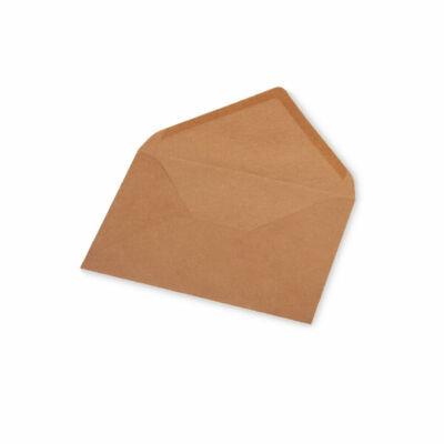 Boríték, C6, 11x16 cm - natúrpapír, 160 g
