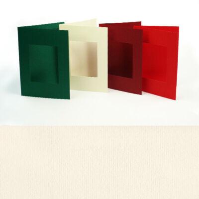 Paszpartu kártya, szögletes, A6 - natúr, 2 részes
