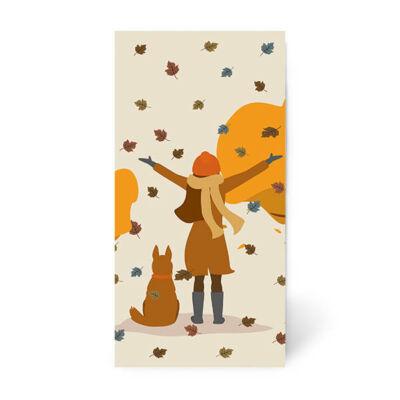 Papírzsebkendő csomag - Őszi kert