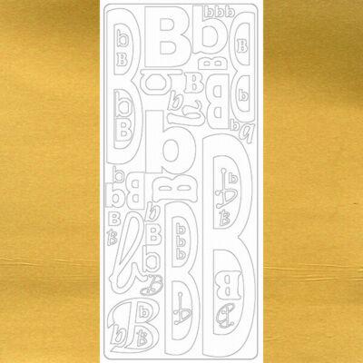 Kontúrmatrica - betű, B, arany, 0234  - AKCIÓS