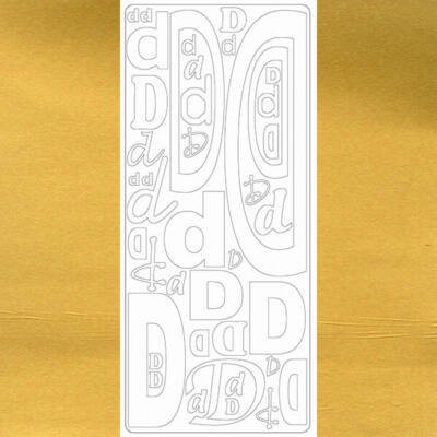 Kontúrmatrica - betű, D, arany, 0236  - AKCIÓS