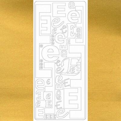 Kontúrmatrica - betű, E, arany, 0237  - AKCIÓS