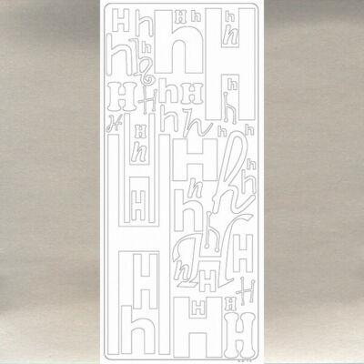Kontúrmatrica - betű, H, ezüst, 0240  - AKCIÓS