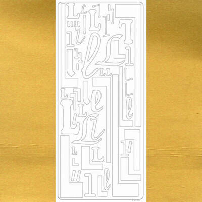 Kontúrmatrica - betű, L, arany, 0242  - AKCIÓS