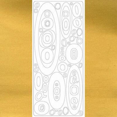 Kontúrmatrica - betű, O, arany, 0245  - AKCIÓS