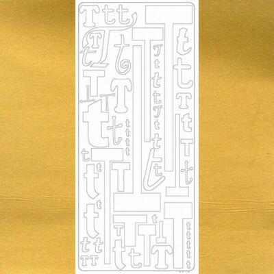 Kontúrmatrica - betű, T, arany, 0249  - AKCIÓS
