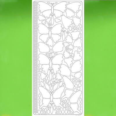 Kontúrmatrica -  3D pillangók, világoszöld, 0426  - AKCIÓS